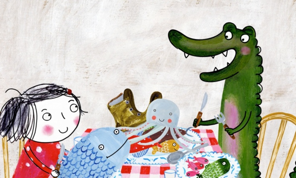 Illustration : rita et crocodile